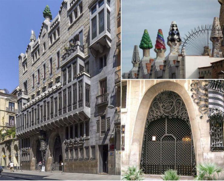 необычные здания Гауди в Барселоне
