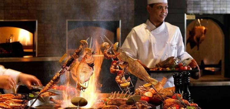 еда на курортах Дубая
