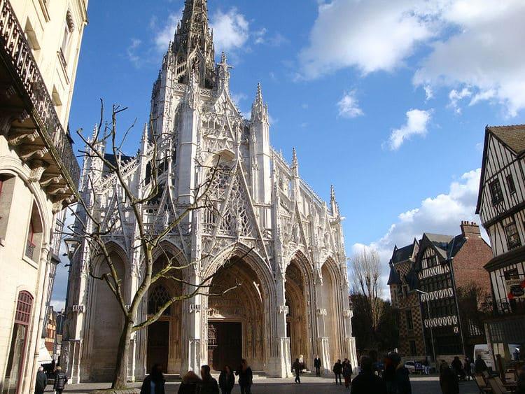 достопримечательности Нормандии - церковь Святого Маклу в Руане